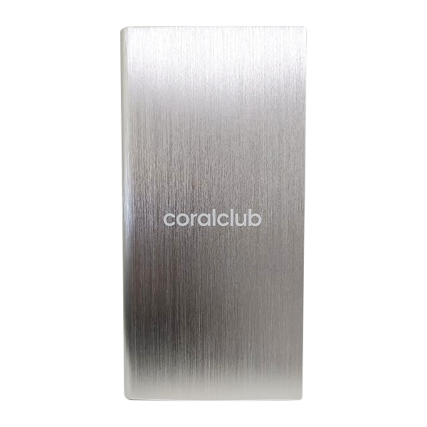 Powerbank with Coral Club logo